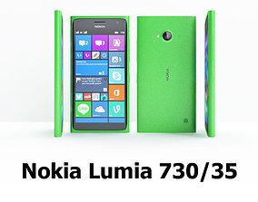 3D model Nokia Lumia 730