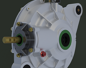 3D Automatic differential Spindles Hubs Axles
