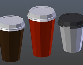 Low poly Coffee Cup 1 3D asset