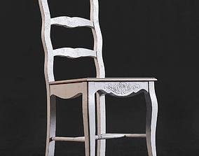 Rimini white chair 3D