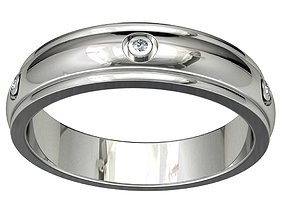 Wedding Band Ring For Men STL File ready For 3D 2