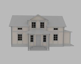 3D model exterior lodging House