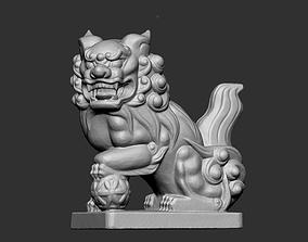 sculpture 3D printable model Lion Sculpture