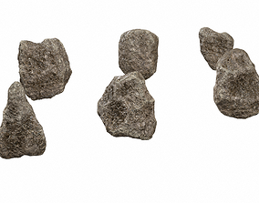 3D asset Rocks with minerals PBR