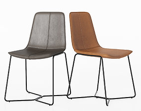 Slope Leather Dining Chair Westelm 3D