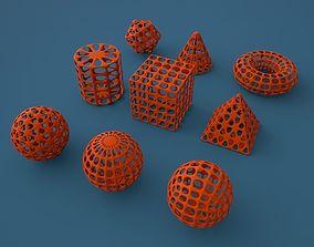 Standard geometric primitives 3D printable model