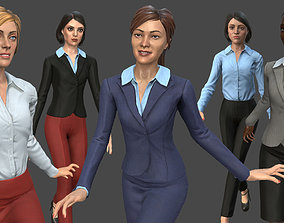 3D asset Modular Business Woman Pack