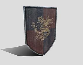 Medieval Heater Shield 3D model