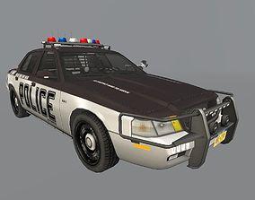 K-9 Sedan vehicle police 3D asset