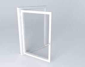3D model PVC window sash 1