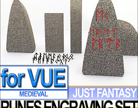 3D model Runes Engraving Set