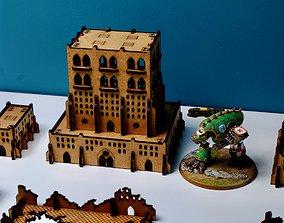 SVG files for Laser-Cut MDF Buildings 3D printable model 3