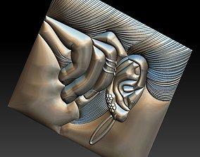 3D printable model No 7 Earring