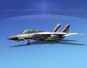 Grumman F-14D Tomcat T12a vf41 3D