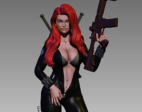 Black Widow Undressing 3D printable model