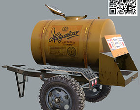 Standart USSR Barrel of beer ACTP-09 3D model