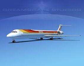 3D McDonnell Douglas MD-80 Iberia