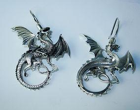 3D printable model Whitby wyrm Dragon earrings