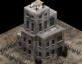 Post-apocalyptic Building Safe Zone 3D asset