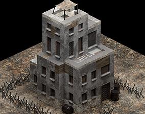 Post-apocalyptic Building Safe Zone 3D asset