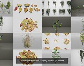 Landscape Vegetation Lowpoly Assests 3D