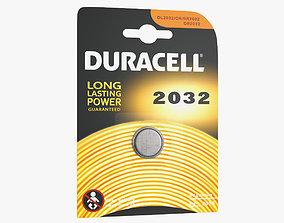 Duracell CR2032 Battery Pack 3D model