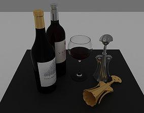 various corkscrew 3D model