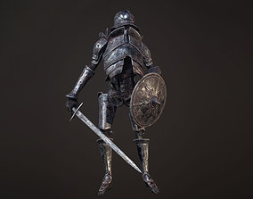 Undead Zombie Warrior Character 4k PBR Low poly 3D model