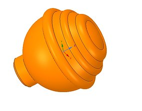 simple-made furniture handle knob v1 3d-print and cnc