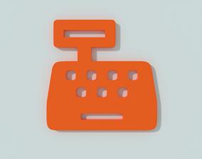 PBR E-commerce 3d icon - Cash register