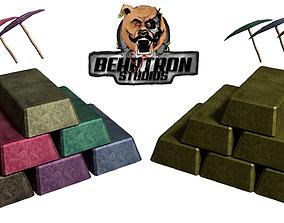 3D asset Ingot Metal Bar Crafting Fantasy Blacksmith 3