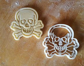 3D printable model Skull death poison cookie cutter