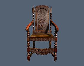 3D model Antique Jacobean Armchair