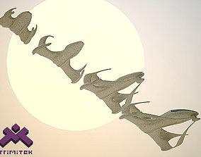 3D model Alien Spaceships - Fighters set