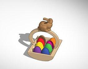 3D printable model Easter egg basket