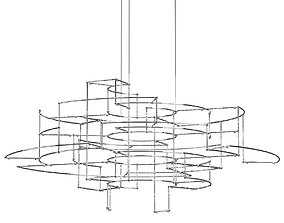 3D Quasar Holland Spectre Chandelier