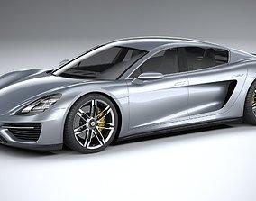 2016 Porsche 960 Turismo 2021 3D