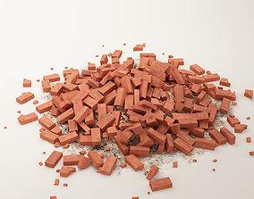 3D bricks 03 stack of bricks