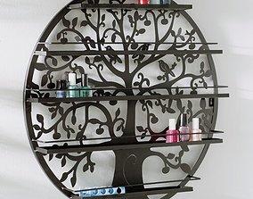 3D Wall Mount Tree Nail Polish Cosmetic Organizer