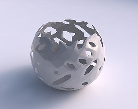 Bowl spheric with faceted cuts 3D printable model