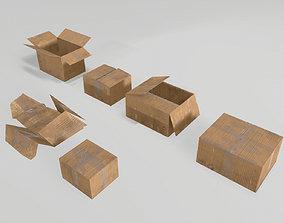 3D model realtime Cardboard boxes