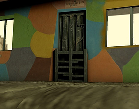small graffiti house 3D asset