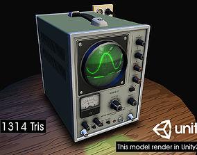 Electronic Instrumentation Oscolloscope 03 3D asset