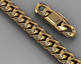 3D printable model Miami cuban link chain bracelet 0064