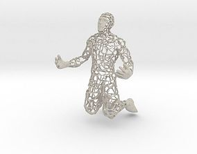 Wired Man Phone Holder 3D print model
