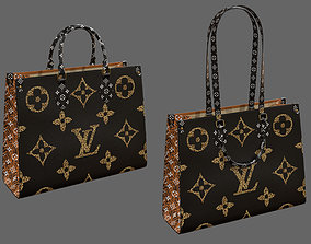 3D model Louis Vuitton Onthego Giant Monogram Black and 2
