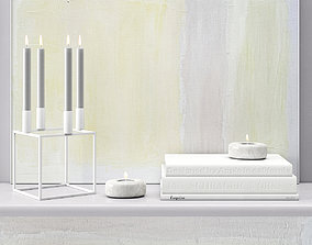 3D TOTAL WHITE DECOR SET 01