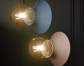 3D model FOGGY Ceramic Wall Sconce Light