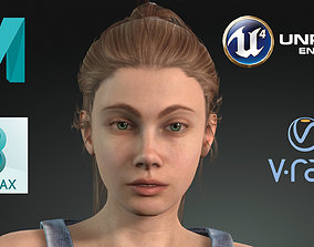 3D asset Game Ready Realistic Human Woman Female Character
