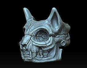 CAT SKULL EGIPTIAN RING DETAILED 3D print model